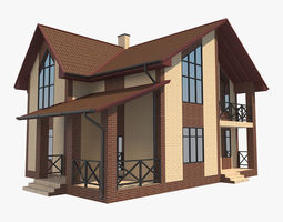 3D House With Interior 2