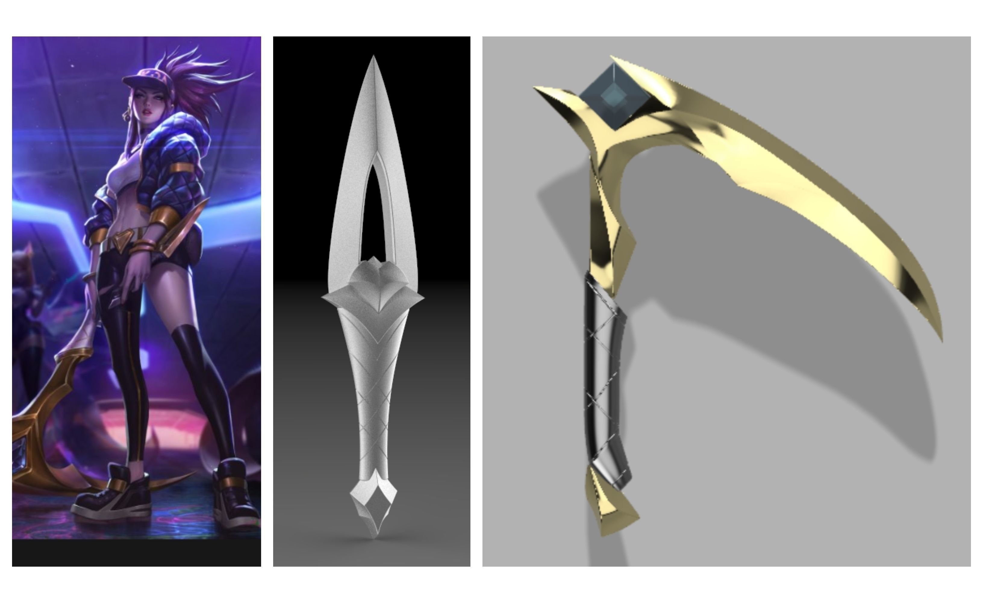 Akali KDA s Kunai  Kama 3D PRINTING FILES cosplay