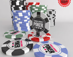 Poker Chips Jetons 3D Model