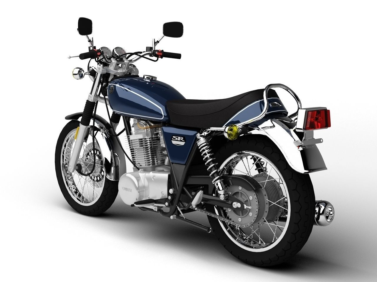 Yamaha sr400 2015 3d model max obj 3ds fbx c4d dxf for 2015 yamaha motorcycle models