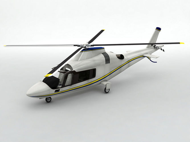 agusta 109 helicopter  3d model low-poly max obj mtl 3ds dxf stl wrl wrz 1