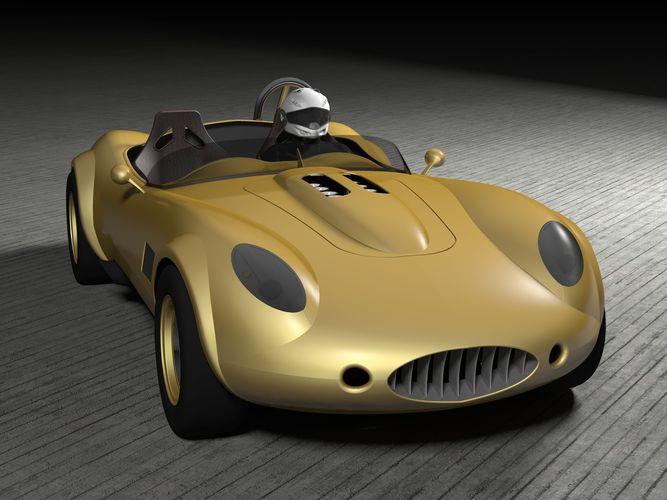 Concept Retro Sport Car3D model