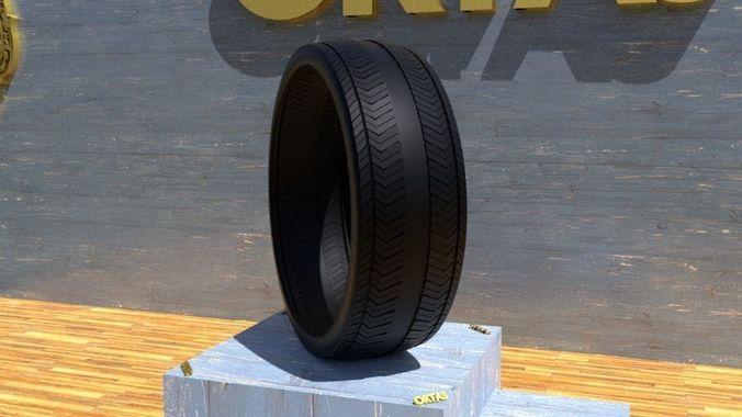 ortas tire no 13 game ready and 3d printable 3d model obj mtl fbx stl 1