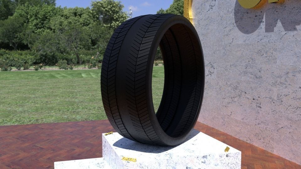ORTAS TIRE NO 26 GAME READY AND 3D PRINTABLE