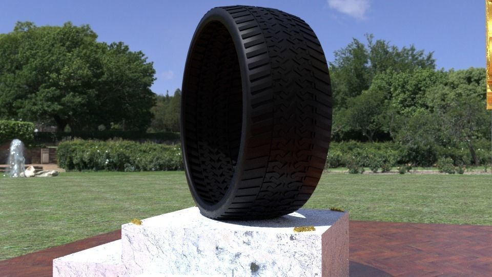 ORTAS TIRE NO 41 GAME READY AND 3D PRINTABLE