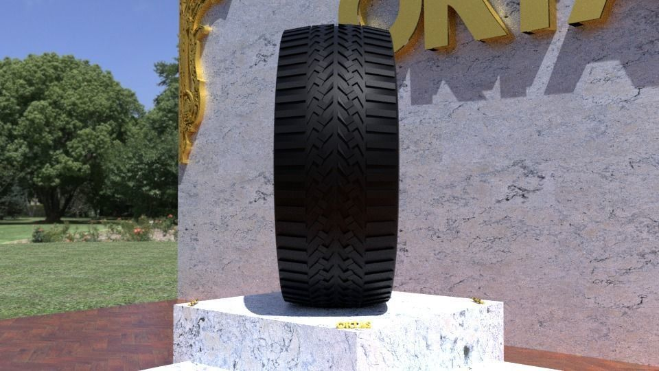 ORTAS TIRE NO 47 GAME READY AND 3D PRINTABLE