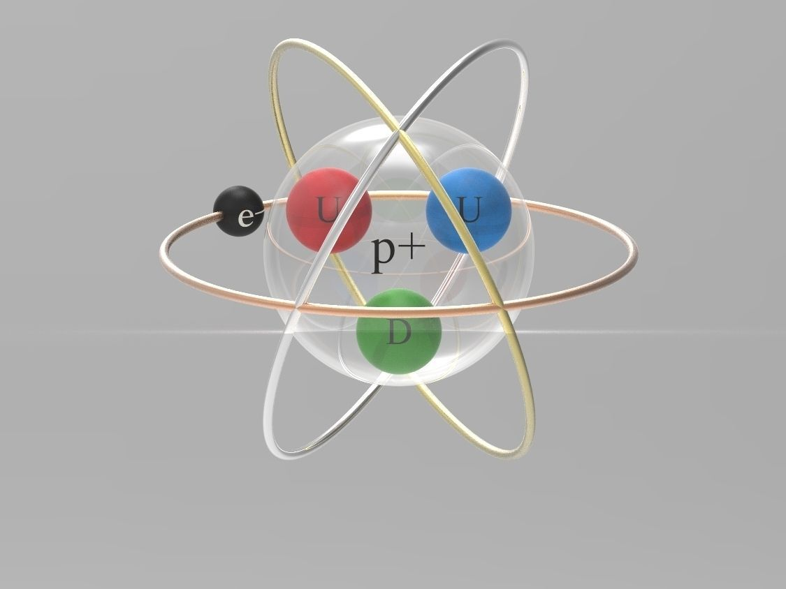 Hydrogen Atom Diagram Project Search For Wiring Diagrams Oxygen Structure Stock Photo Tattoo Concept 3d Cgtrader Rh Com Model School