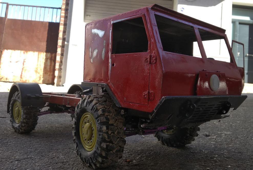 3D Print Scale Crawler 1 10 Truck militar