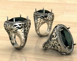 alexandrit  ring 3D Model