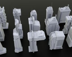 15 LOWPOLY SCIFI PACK Low-poly 3D model