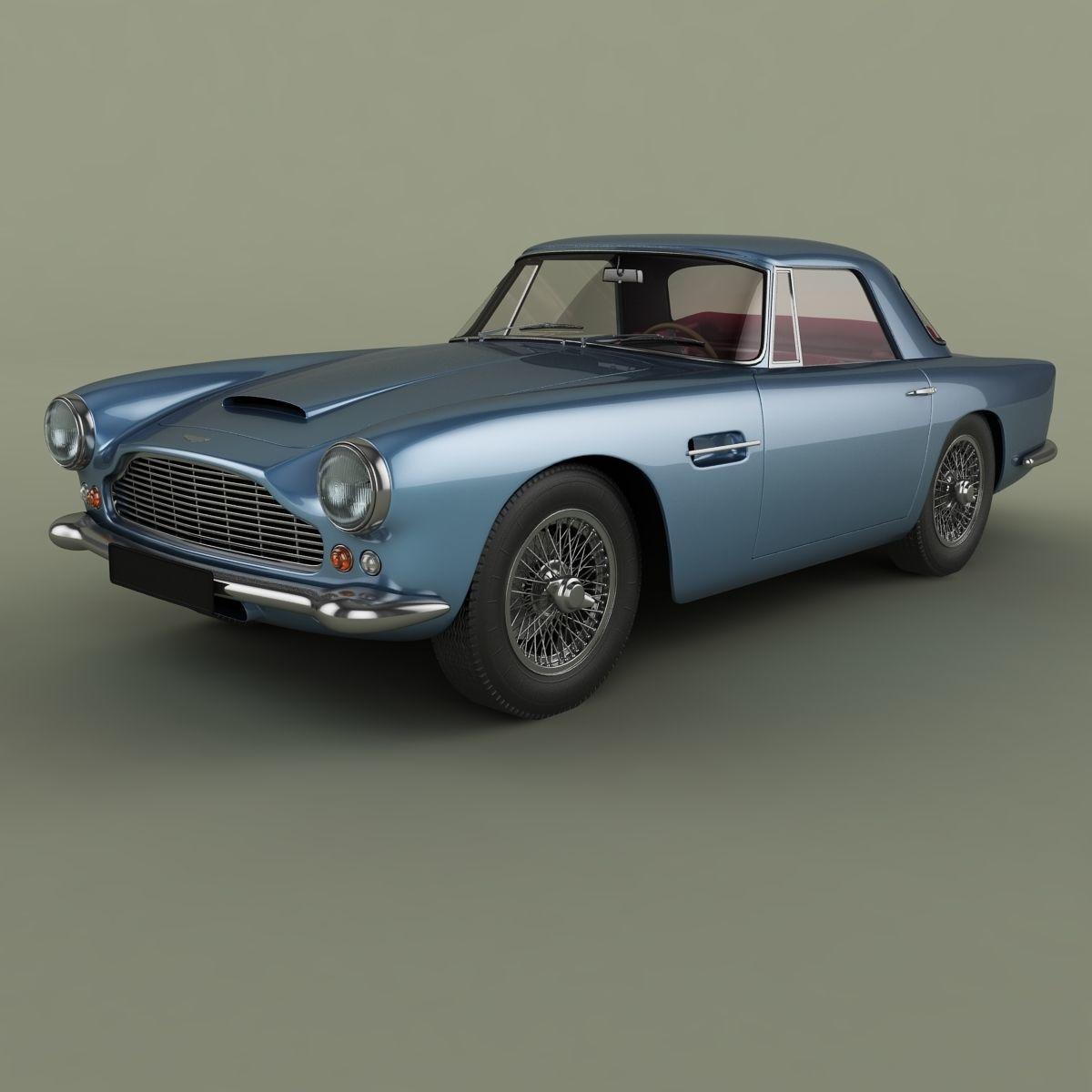 Aston Martin DB4 Convertible 3D Model MAX OBJ MTL FBX