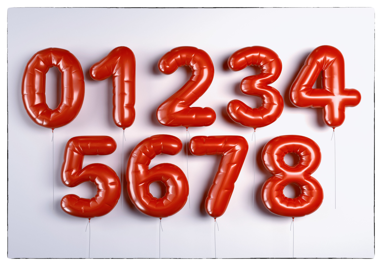 balloons figures-numbers