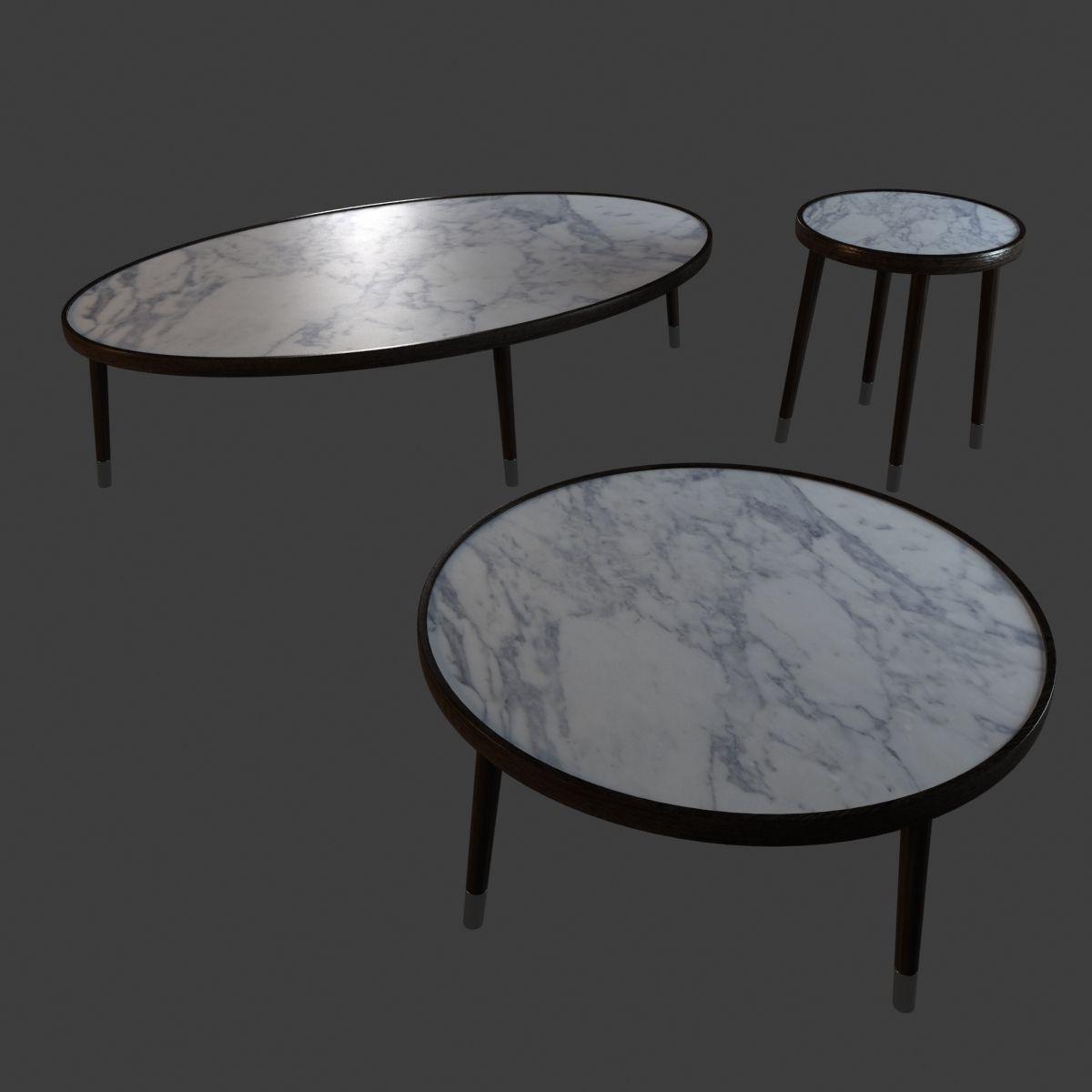 Bigne Porada Coffee Table 3d Model Max Obj 3ds Fbx