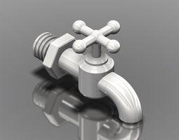 Water Pipe Cock 3D Model