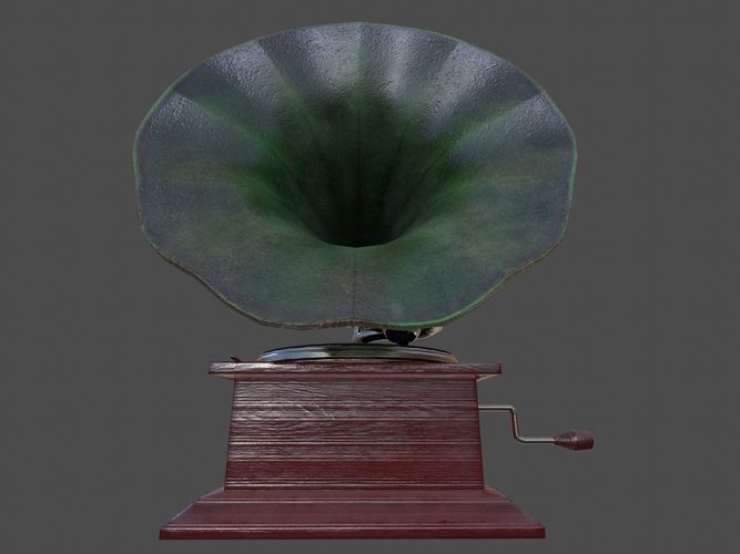 phonograph - pbr 3d model obj mtl fbx ma mb tga unitypackage prefab 1