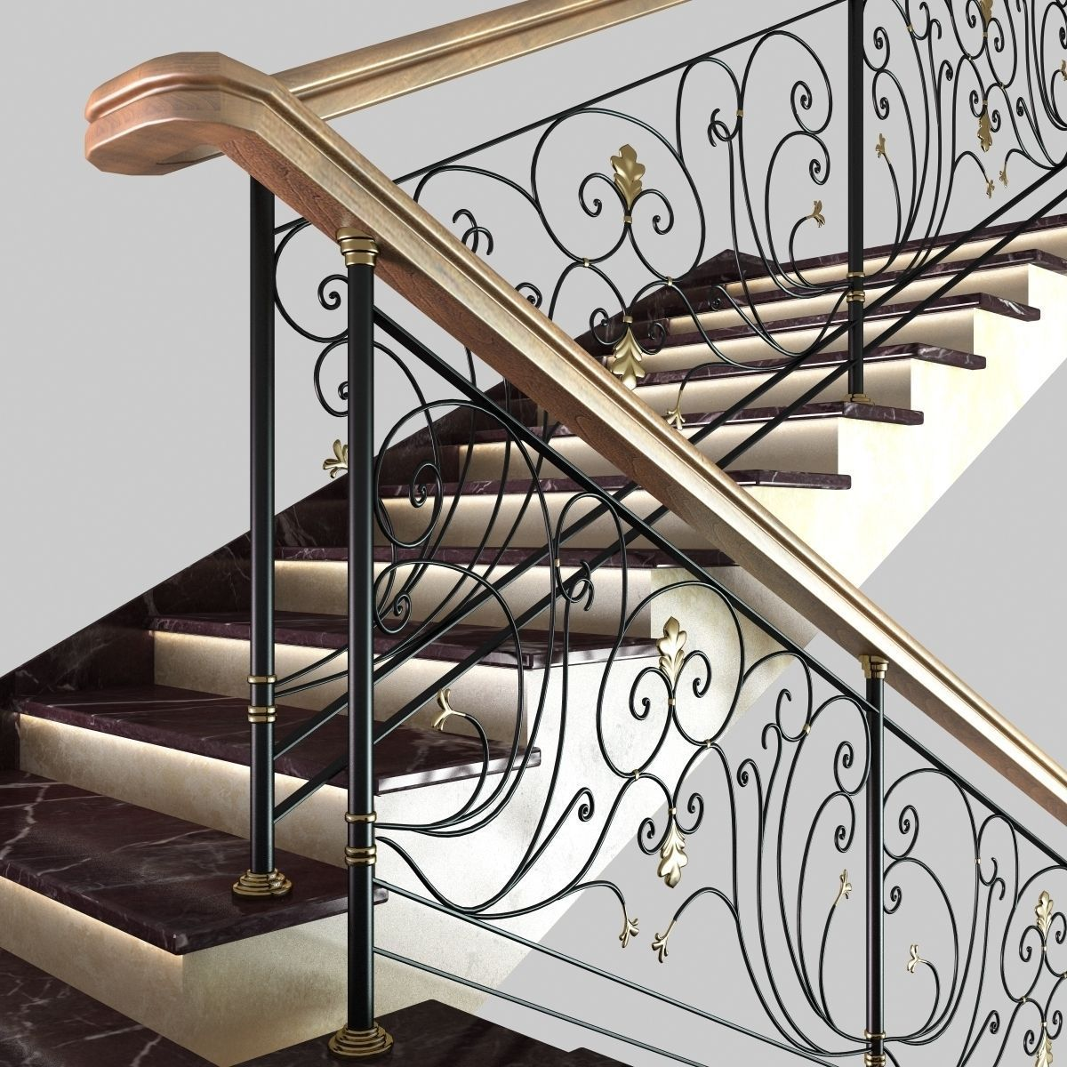 ... Classic Marble Stairs 3d Model Max Obj 3ds Fbx Mtl Unitypackage 8