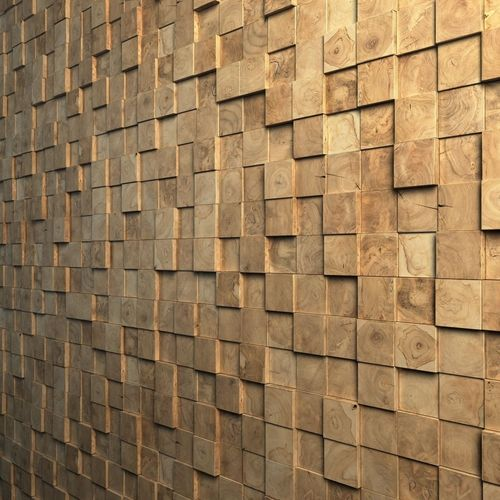 Teak Interior Cladding 3D Wall3D model