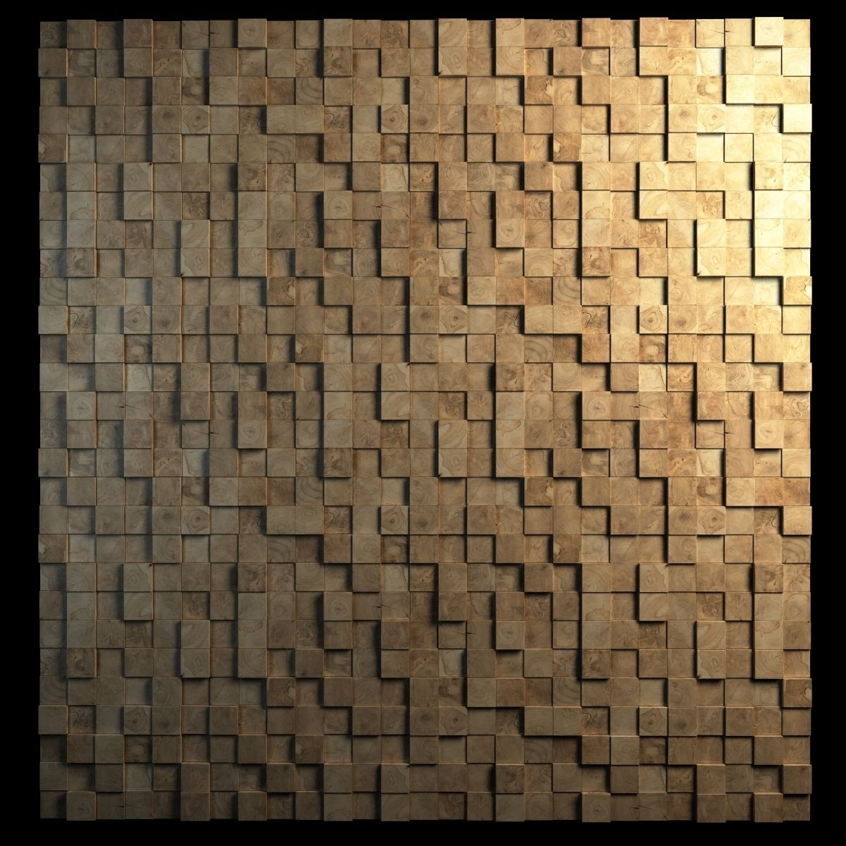 Teak Interior Cladding 3d Wall 3d Model Max Obj 3ds