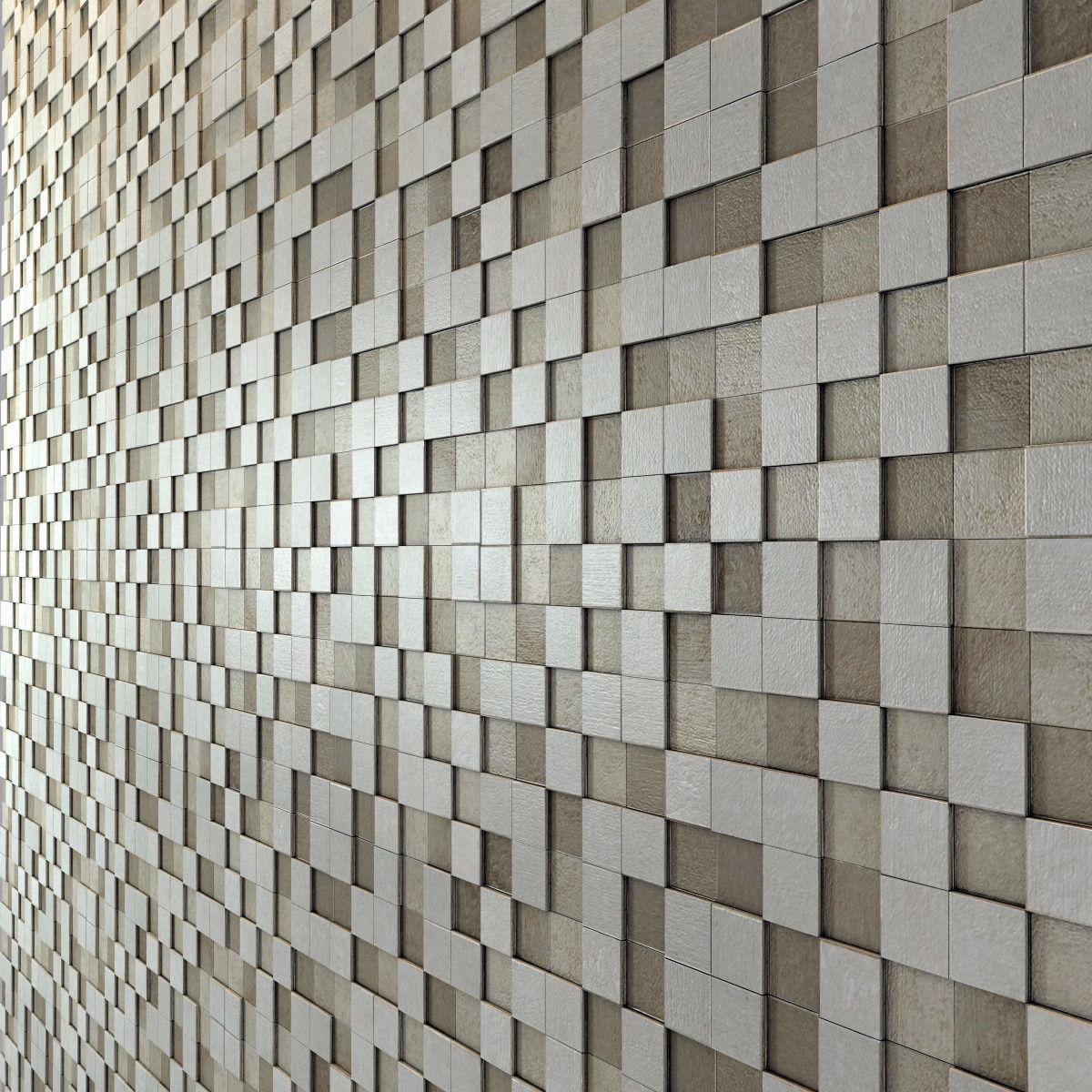 Apavisa Nanoevolution Tile Mosaic 3D model | CGTrader