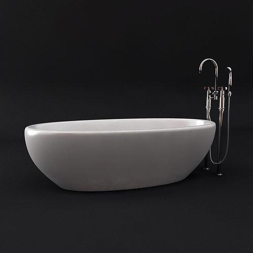 aquamass bath waterworks tap 3d model max obj mtl 3ds fbx stl 1