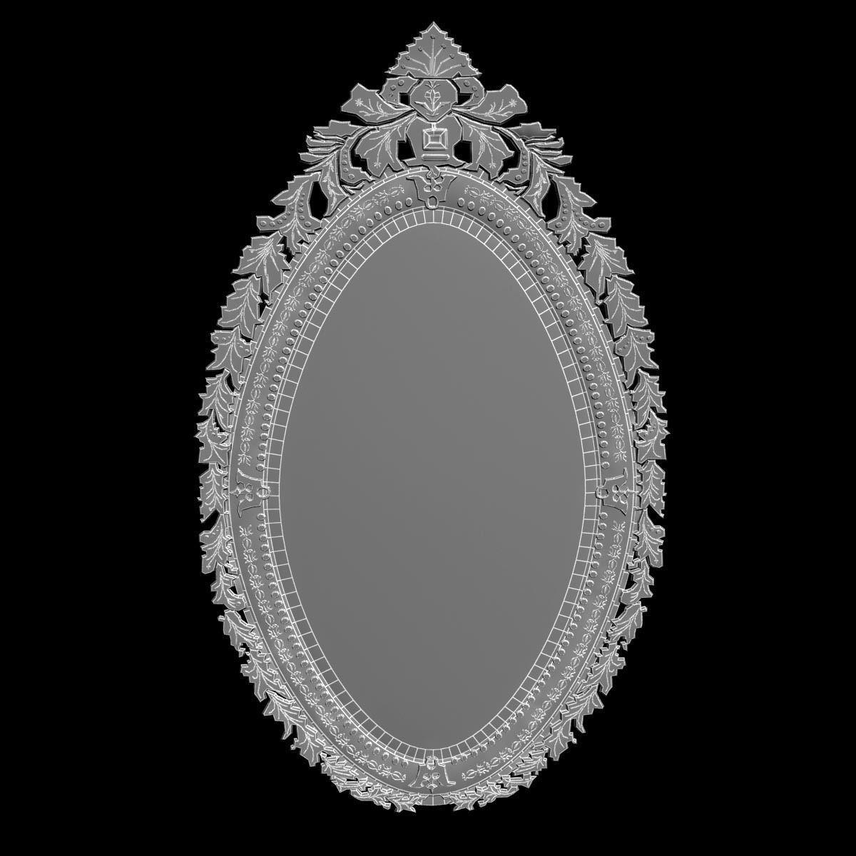 Arte veneziana ov04 wall mirror 3d model max obj fbx mtl for Mirror 3d model