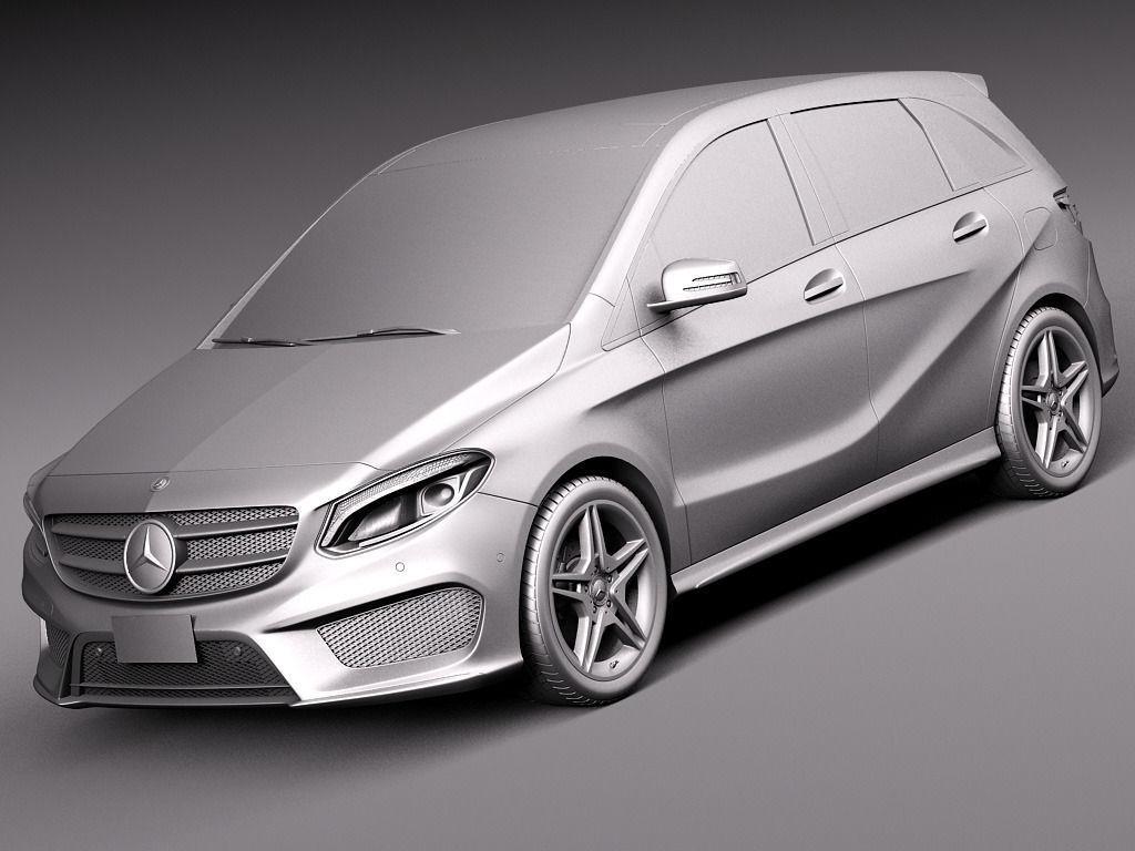 Mercedes benz b class amg 2015 3d model max obj 3ds fbx for Mercedes benz 2015 models