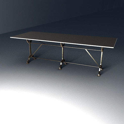 Restoration Hardware Factory Zinc Cast Iron Dining Tables  : restoration hardware factory zinc cast iron dining tables 3d model max obj fbx from www.cgtrader.com size 500 x 500 jpeg 17kB