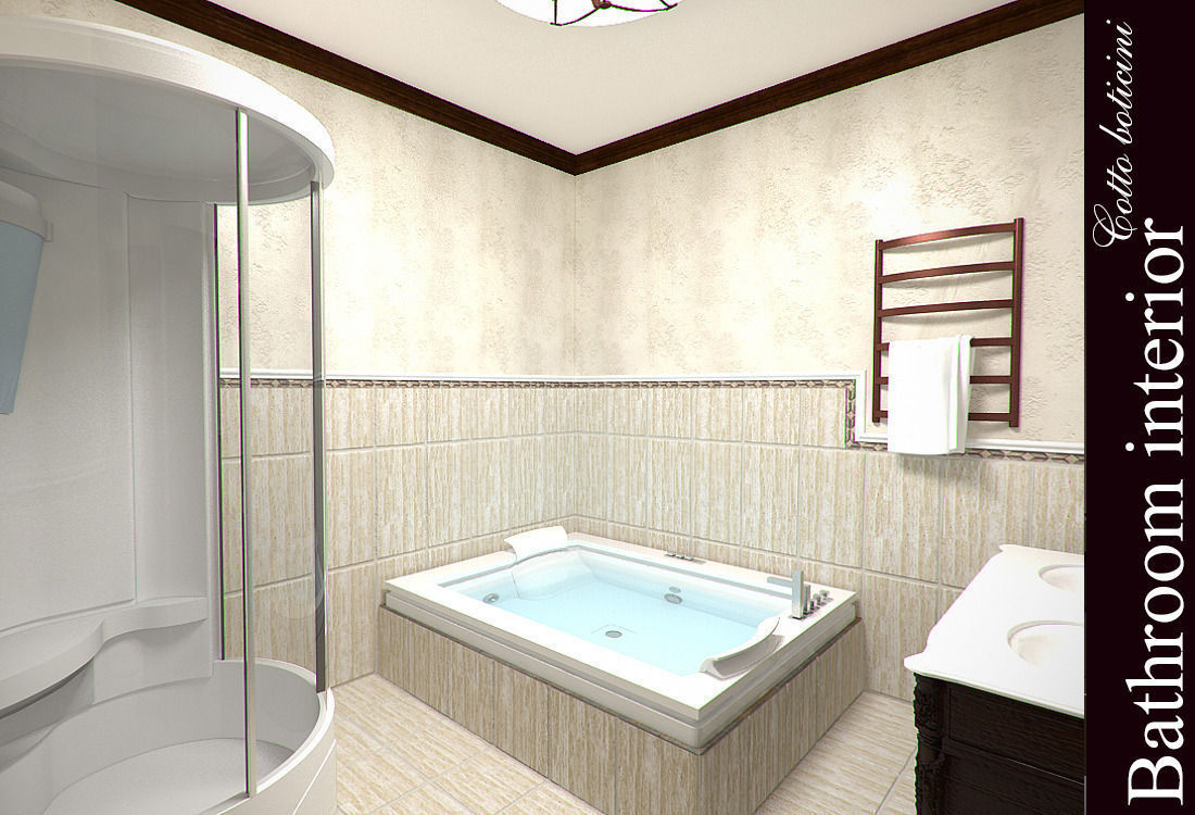 Bathroom 3d Model cotto boticini bathroom 3d | cgtrader
