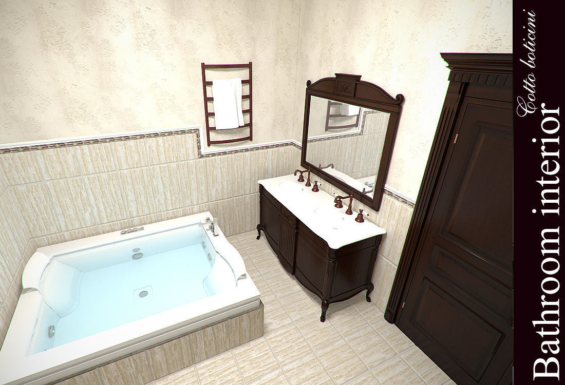 Cotto boticini bathroom 3d model max for Bathroom models photos