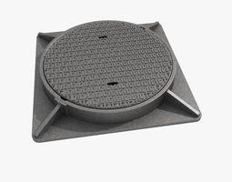 3D cast iron hatch 4