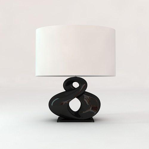 christopher guy huit table lamp 3d model max obj mtl 3ds fbx unitypackage prefab 1