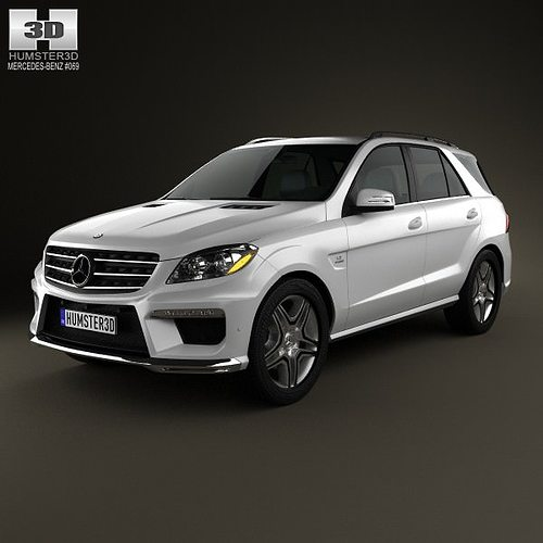 3d mercedes benz ml class amg w166 2012 cgtrader for Mercedes benz suv models list