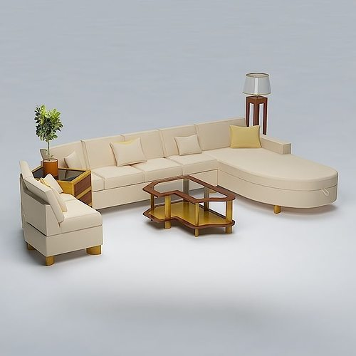 Cushion living room furniture 3d cgtrader for New model living room furniture
