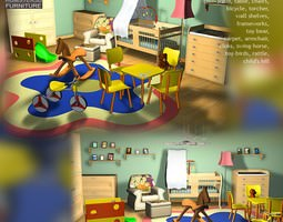 Nursery Room 1 3D asset