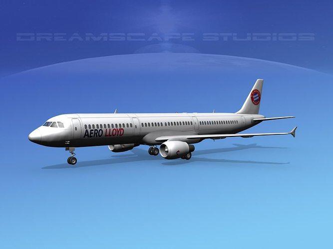 airbus a321 aero loydd 3d model max obj mtl 3ds lwo lw lws dxf stl 1