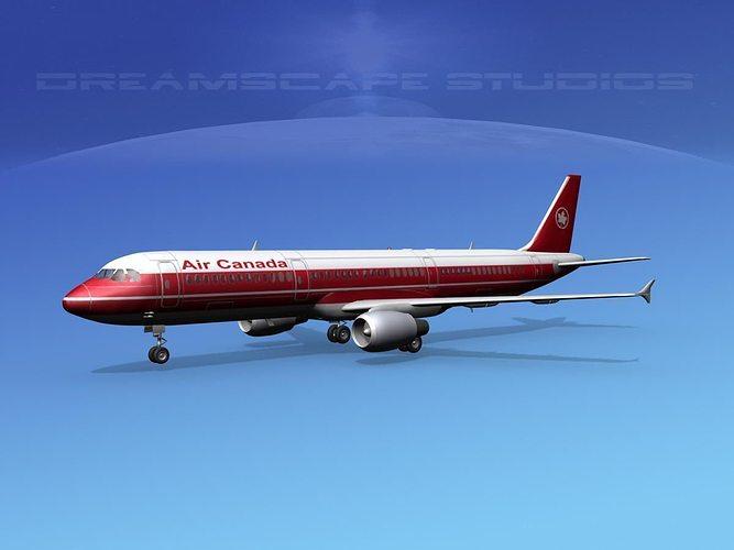 airbus a321 air canada 1 3d model max obj mtl 3ds lwo lw lws dxf stl 1