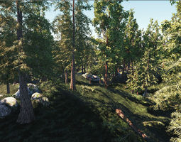 game ready realistic low poly cedar tree models game-ready