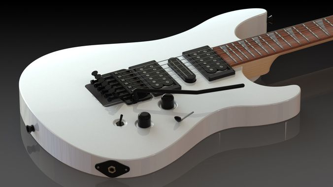 Detailed Electric Guitar3D model