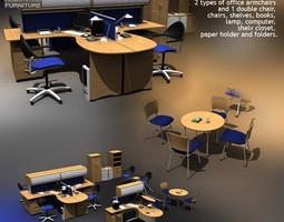 Office Set 3D asset