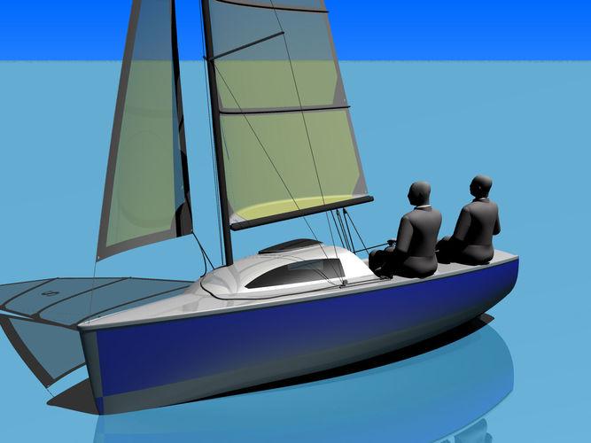 Sailing yacht Spinka-5003D model