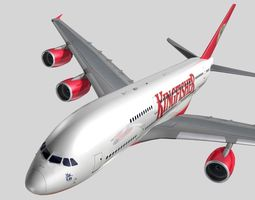 Airbus A-380 Kingfisher Airlines 3D Model