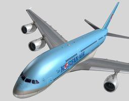 Airbus A-380 Korean Air 3D