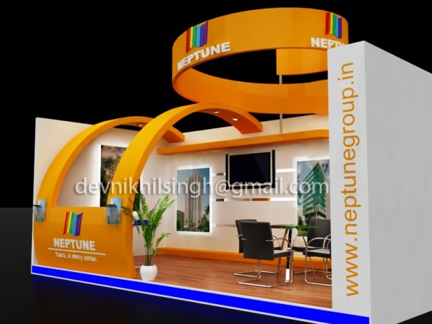 Exhibition Stall Games : Exhibition stall design d models cgtrader