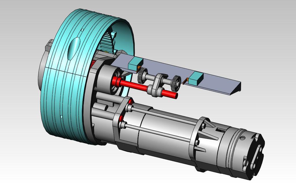 Motor Reducer Free 3d Model Stl