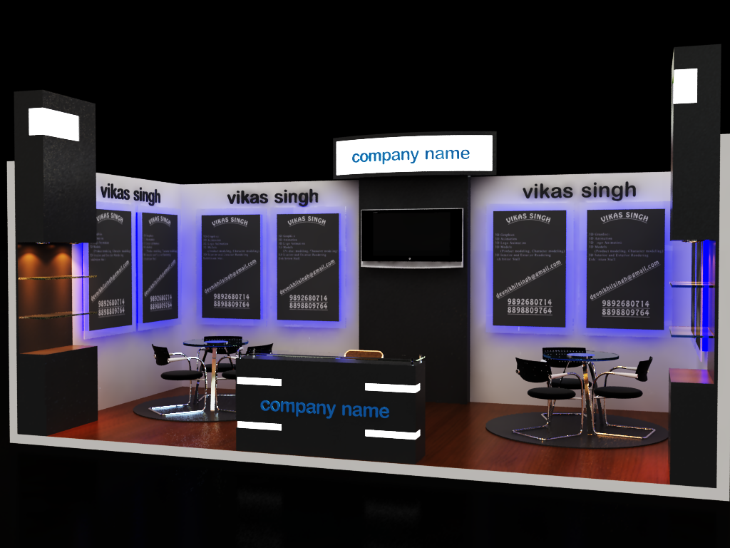 Exhibition Stall Games : Exhibition stall design d model