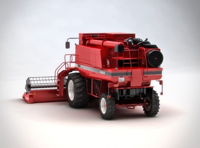 Case 2388 harvester 3D Model .max .obj .3ds .fbx .dxf