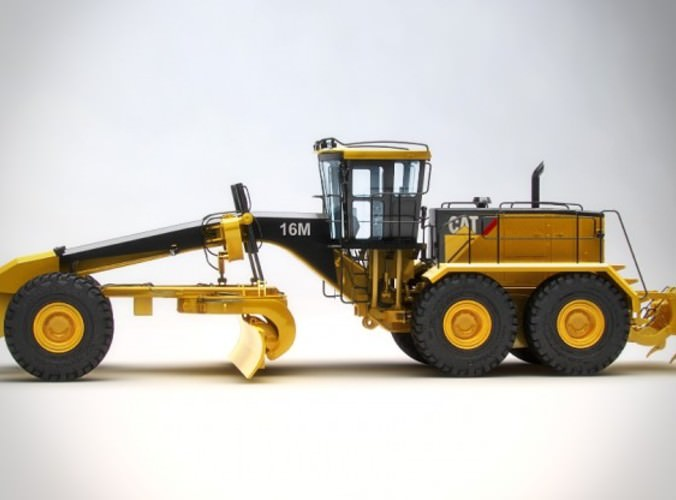Motor Mining Grader Caterpillar 16m 3d Model Max Obj 3ds
