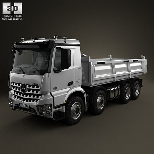 3d mercedes benz arocs tipper truck 2013 cgtrader. Black Bedroom Furniture Sets. Home Design Ideas