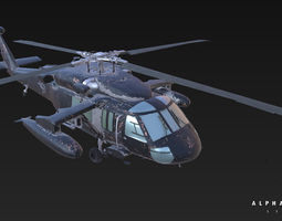 UH-60 Game Ready Helicopter 3D Model