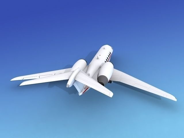 Cessna Citation X V07 3D Model Rigged MAX OBJ 3DS DXF DWG W3D